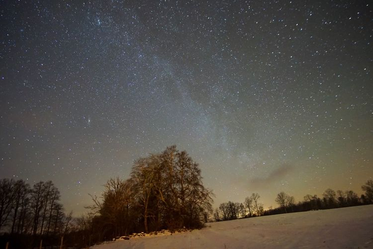 Star - Space Night Cold Temperature Nature Astronomy Snow Tranquil Scene