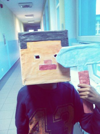 Minecraft Steve A Month Ago My Younger Brother Handmade By Mom Makeityourself EyeEm Best Shots