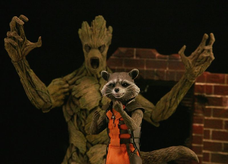 """Heard you had some beef?"" Groot Rocketraccoon Anarchyalliance Ata_dreadnoughts Onesixthscale Marvel Toyphotography GUARDIANSOFTHEGALAXY Hottoys"