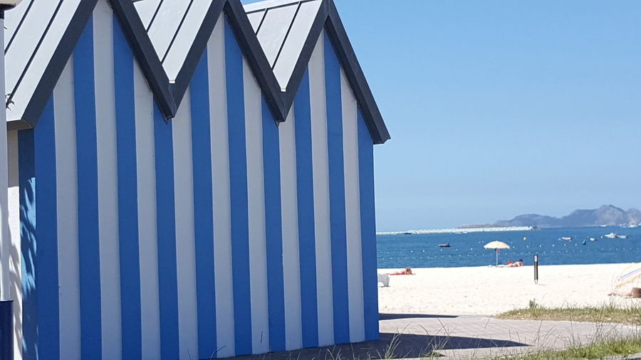Sea Beach Blue Nature Outdoors Tranquility Travel Destinations Baiona Baiona Spain