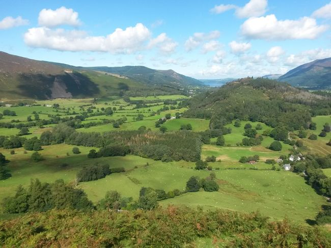 Nature Mountain Beauty In Nature No People Landscape Cloud - Sky Scenics Outdoors Sunny Day Travel Destinations The Lake District  Tranquil Scene Rural Scene Pasture Blue Sky, White Clouds Clouds Tranquility