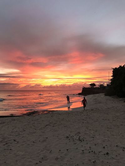 Beautiful ♥ Beautiful Nature Beach No Filter, No Edit, Just Photography Nature Sand Clouds And Sky Unspoilt Purist No Edit No Filter Travel Destinations Tranquility Working Hard Beauty In Nature Ocean Barbados Sunset Nofilter Fire Orange Color