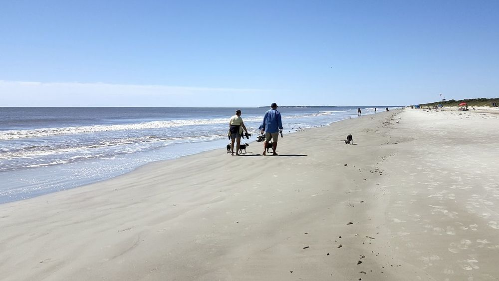 Blue Wave Alternative Fitness Showcase April The KIOMI Collection Vintage Beach Theme Beach Water Sky Sand Soft Shore Jekyll Island People Dunes Shells Quiet Places Clouds Relax Blue Walk