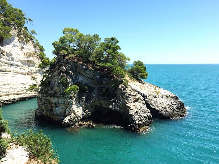 Italy Italia Puglia Vieste Pugnochiuso Scogli Sea Mare Summer