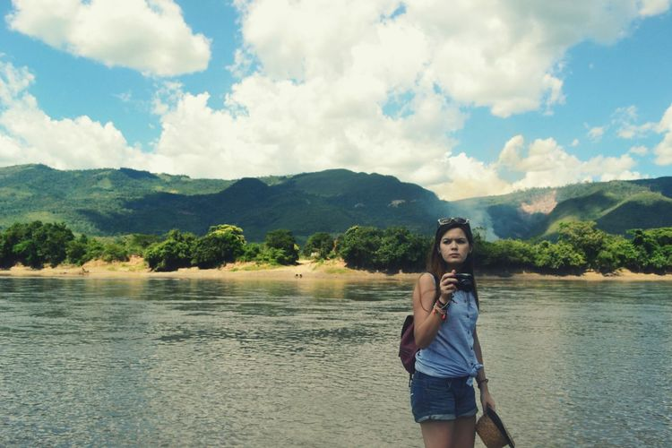 Summer Cloud - Sky Only Women Young Adult Adult One Person Standing People Water Long Hair One Woman Only Beauty Sky Nature Beautiful People Women Relaxation Travel Destinations Peru Essence Of Summer