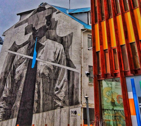 Outdoors Day No People Multi Colored Building Exterior Architecture Nautical Vessel Sky Graffitiwall Graffiti & Streetart Graffiti Photography Graffiti Collection Reykjavik Iceland Memories Reykjavikstreetart Graffiti Bluetie Tie Suited And Booted Bright Colors