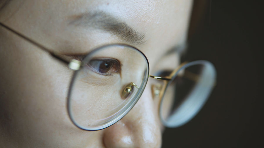 Close-Up Of Mid Adult Man Wearing Eyeglasses