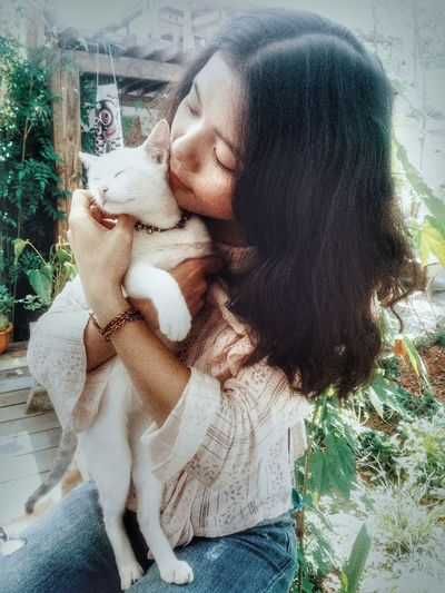 Home is where the cat is Morning Lodvieliz Dalat Vietnam Travel Photography Photoshoot Enjoying Life Sunshine #cat #cat #cute #love #muse Hugging Friend Falling In Love