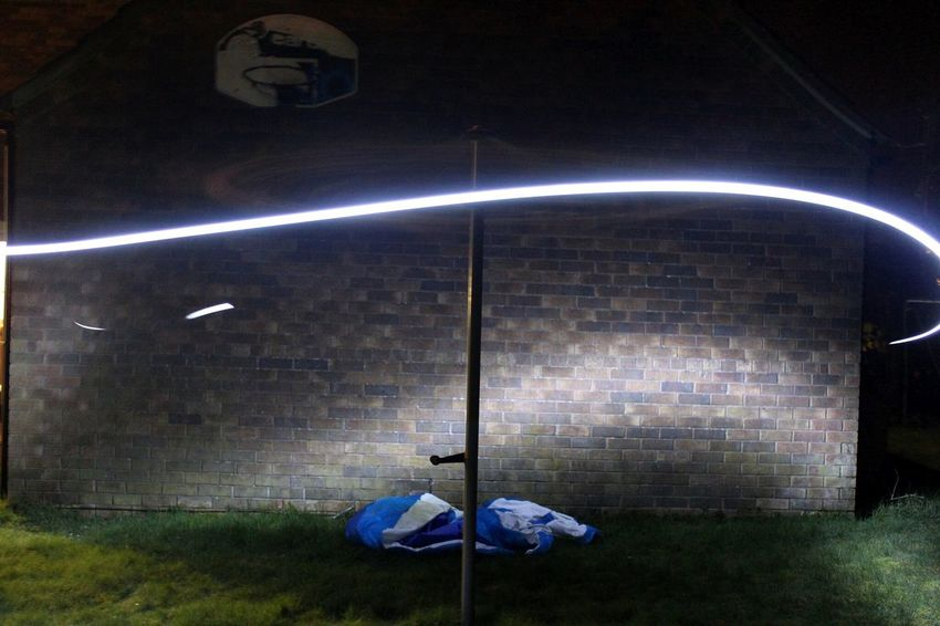 Experimenting with slow shutter speed! Light Washing Line