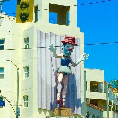Clown Statue Retail Store Main Street Venice Venice California Display Ballerina Building
