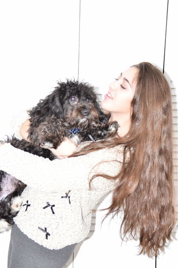 Black Dog Black Dog Down Dog Doggy Love Girl Holding A Camera Girl With Dog Girl With Long Hair My Photography Week Of Eyeem Pastel Power Beautiful Pami Cindy Greenstein Photography