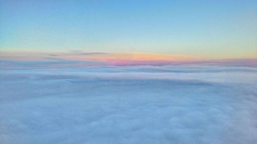 Scenic view of clouds in sky during sunset
