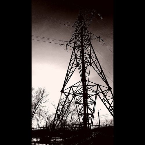 Dusk Sky Electricity Pylon Electricity  No People Technology Outdoors Day Darkness And Light Darkness Depressions