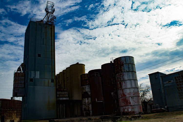 Grain Elevator Rust Weathered Abandoned Building Exterior Built Structure Damaged Day Factory No People Outdoors