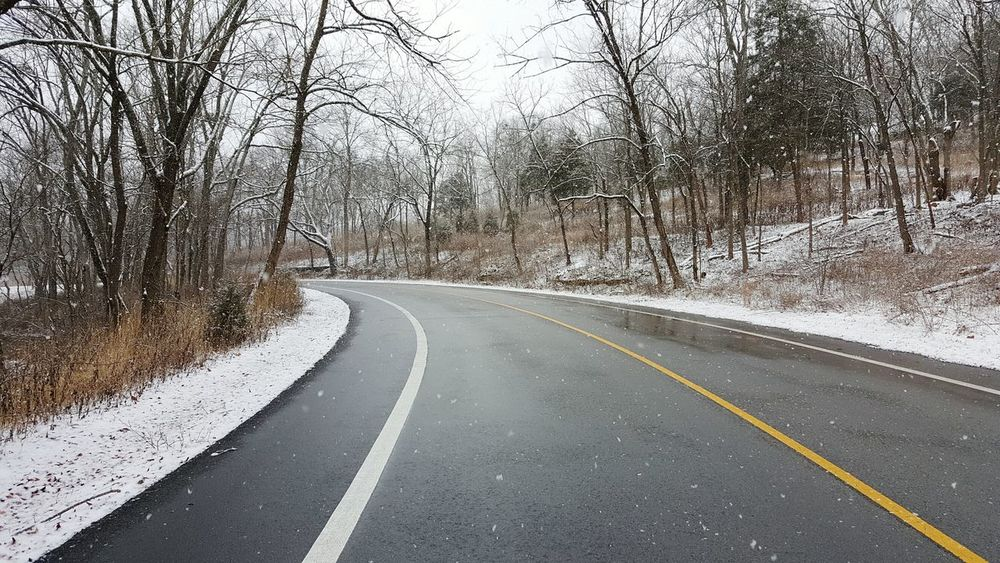 Road Transportation The Way Forward No People Day Nature Cold Temperature Winter Weather Snow Snow Flakes Snowing Bare Tree Everyday Beauty Winter Travel Outdoors Empty Road Landscape Kentucky