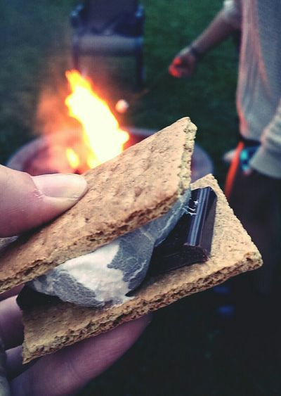 smoky days and hazy nights S' Mores Camp Fire Summer Campout