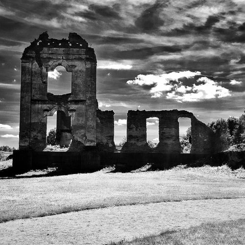 Another DimensionThe Architect - 2017 EyeEm Awards Architecture Built Structure Ruins Ruins Architecture No People Outdoors Remains Of Past Times Lithuania Building Exterior Blackandwhite Photography Black And White Blackandwhite Black & White The Week On EyeEm