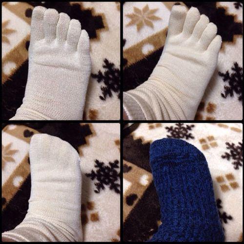 Winter Socks Libro Frenchbull ソックス 綿 冷え取り ウール Hietorilife シルク フレンチブル 冷え取り靴下 Hietori 冷えとり 5本指 4枚重ね 絹 重ね履き