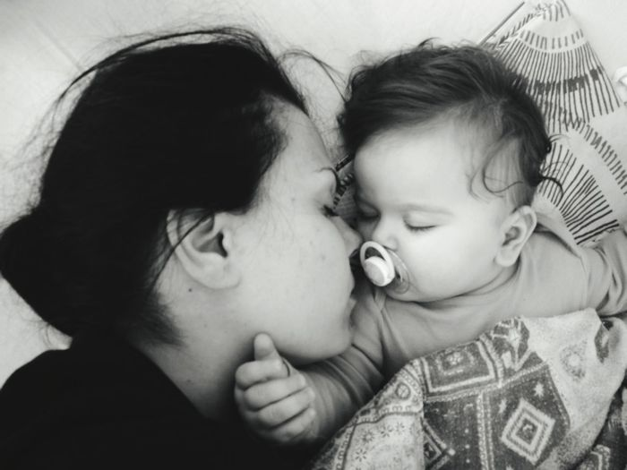 Two People Togetherness Mother Childhood Child Baby People Family Close-up EyeEmNewHere Black And White Real People