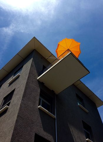 Blue Bluesky Architecture Architecture_collection Architectural Detail Balcony Window Dietikon