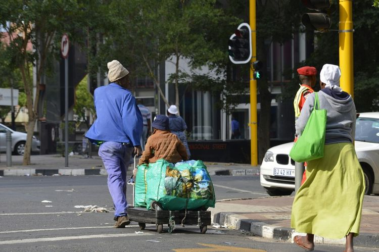 Adult Child Street Photography Rubbish Collection Fun Childhood Having Fun At Work People In The Streets Security Guard Morning Occupation Hard At Work Earning A Living Johannesburg South Africa Enjoying A Ride Togetherness Faith In Humanity