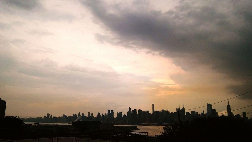 Mother Nature Is Amazing New York Skyline  rain strom
