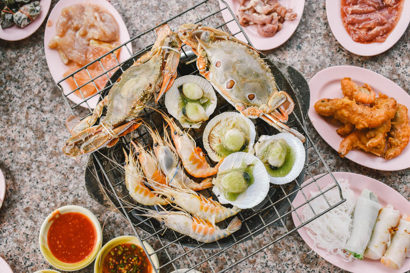 Asian Food Buffe Food Food And Drink Meat Seafood Shrimp - Seafood Table First Eyeem Photo