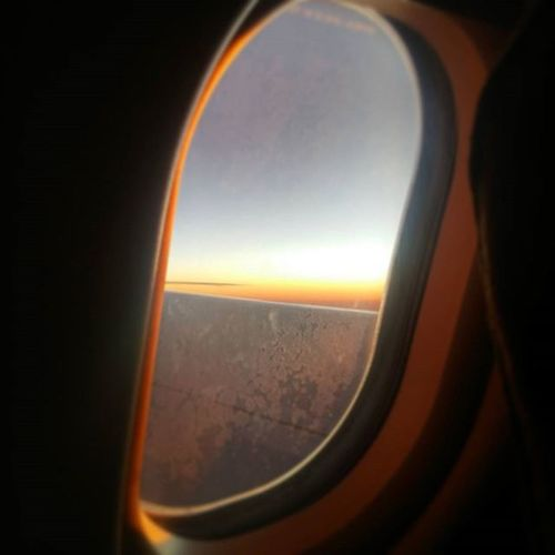 Watching the sunrise through the clouds ⛅ what a beautiful way to end to end an Adventure of a Lifetime! ✈ Sunrise Adventureofalifetime