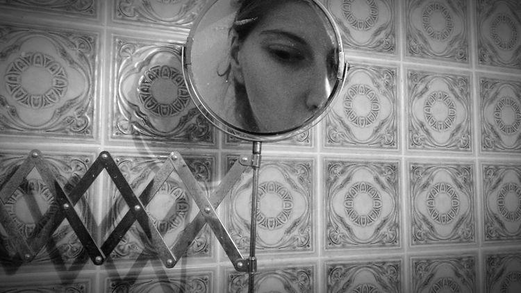 Selfie In The Mirror Bathroom Having Fun Black & White Everyday Life Fine Art Photography Showcase July TakeoverContrast BYOPaper!
