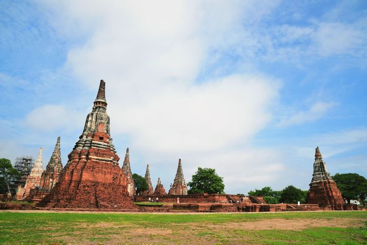 Ayutthaya historical Park. Thailand Copy Space Outdoors Landscape Ayutthaya Ayutthaya | Thailand Thailand Famous Place Visiting Temple Travel View Beautiful ASIA Historical City Place Of Worship History Religion Cultures Spirituality Sky Architecture Building Exterior Cityscape Urban Scene Countryside