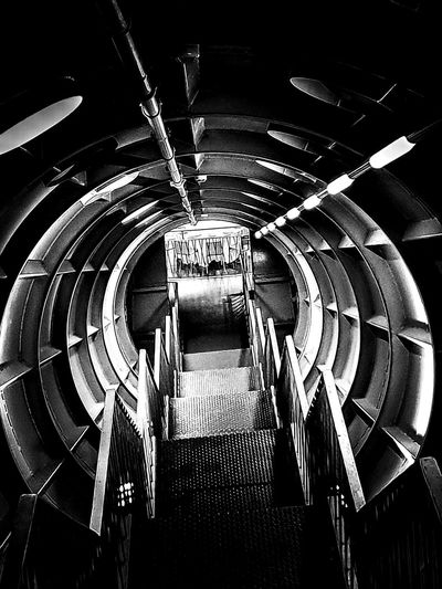 Inside Atomium Cold Travel Destinations Belgium Exit Way Out Descending Futuristic Architecture Futuristic Tourism Atomium Sightseeing Spot Round Centered Perspective In Front Dark Concentric Spiral Staircase Close-up Architectural Detail Repetition Architectural Design Semi-circle Full Frame Symmetry Circular Pattern Architectural Feature Steps And Staircases Architecture And Art LINE