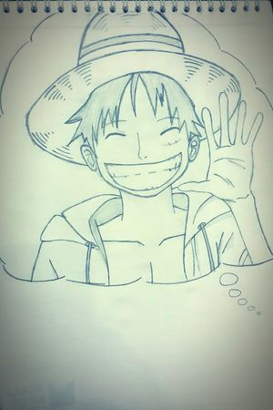 Hi. ❤ :D Anime One Piece Luffy Drawingtime Drawing Pencil Drawing Sketch