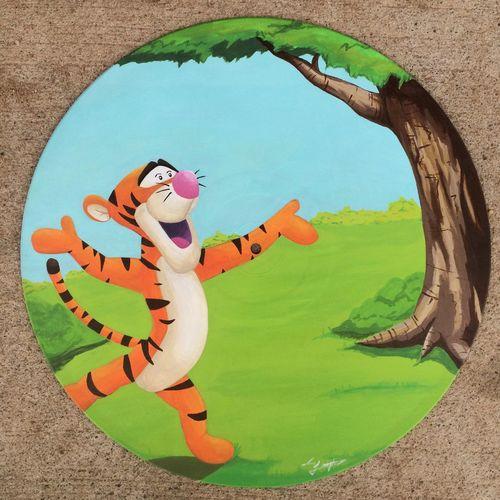 Tigger Disney Painting Art Records Brush Acrylic