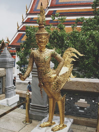Royal Grand Palace Bangkok Thailand. Wat Prakeaw Bangkok The emerald Buddha Royal Grand Palace Bangkok Thailand. Wat Prakeaw Bangkok The Emerald Buddha Temple Travel Destinations Tourist Attraction  Traveling Tourist Take Photos Travel In Thailand Golden Statue Religion Sculpture Architecture Day Outdoors No People