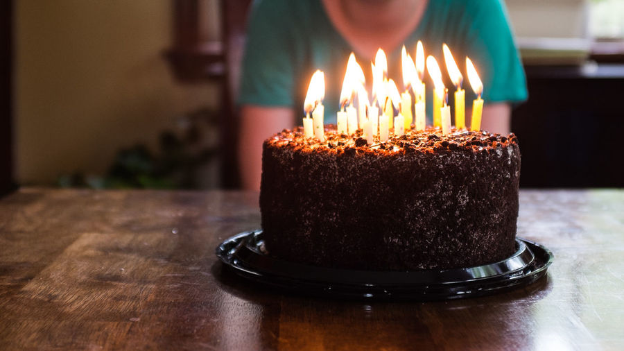 Birthday Cake Birthday Candles Burning Cake Candle Close-up Day Dessert Flame Food Freshness Heat - Temperature Indoors  Indulgence One Person People Plate Sweet Food Table Temptation