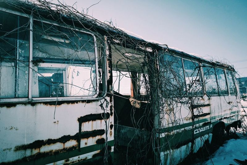 Bus Destruction Abandoned No People Rusty Desolate Day Outdoors