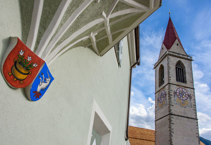 Malles Venosta - Mals Architecture Belief Blue Building Building Exterior Built Structure Cloud - Sky Day Italy Low Angle View Nature No People Outdoors Place Of Worship Religion Sky Spirituality Tower Vinschgau