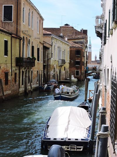 Daily deliveries in Venice Water Canal Architecture Travel Destinations Transportation Nautical Vessel Mode Of Transport Cultures building exterior