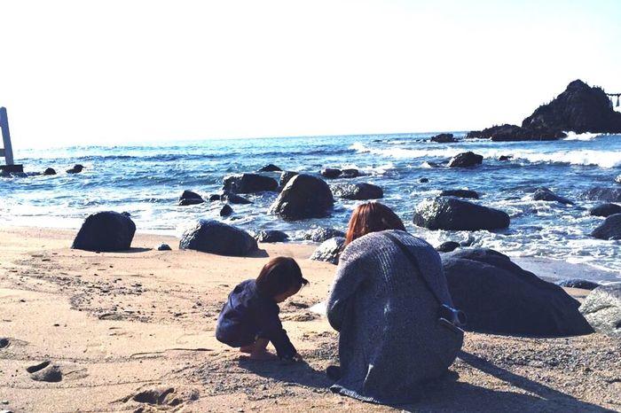 二見ヶ浦 福岡 親子 Fukuoka 海 砂浜 Sea Myson Goodday We Are Family