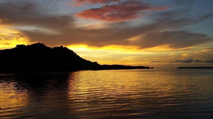 Sunset Thailand View Beautiful sunset in khao lanta