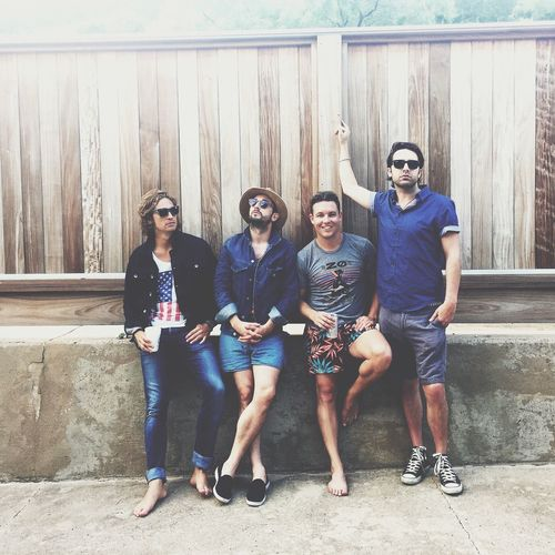 Band Friendship Casual Clothing Happiness Full Length Sunglasses Looking At Camera Portrait Lifestyles Togetherness Individuality Real People Youth Culture Young Adult Front View Smiling Leisure Activity Eyeglasses  Cheerful Bonding Jean denim Denim Jacket Denim Band