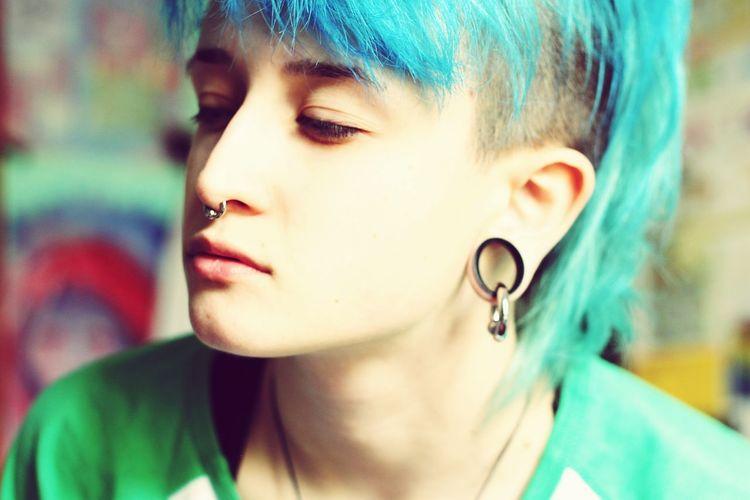 Close-up of teenage girl