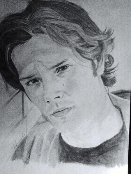 Sam Winchester  Drawing SPN 😊 Supernatural ❤ Jared Padalecki
