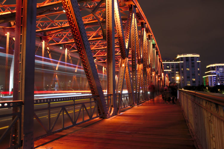 Shanghai, China Architecture Bridge - Man Made Structure Built Structure City Illuminated Night Outdoors Travel Destinations