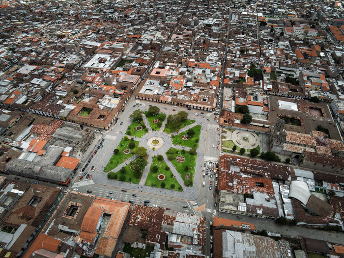Building Exterior Architecture City Built Structure High Angle View Building Cityscape Residential District Aerial View Day Nature Crowded Roof Town Travel Destinations Outdoors Water House TOWNSCAPE Plaza De Armas South America Historic