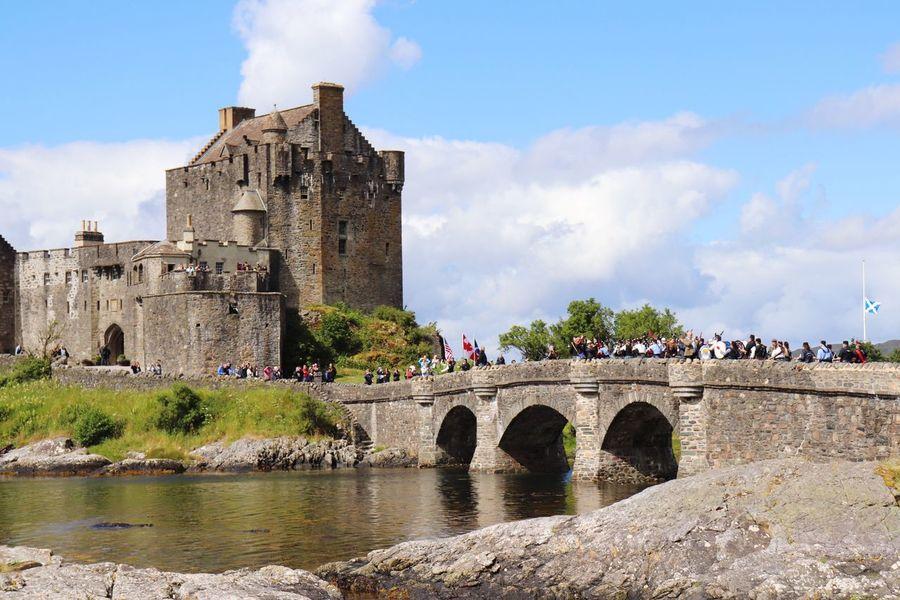 Eilean Donan Castle EyeEm Selects Built Structure Architecture Building Exterior Sky Water Cloud - Sky Bridge History Building The Past River Nature Castle Travel Travel Destinations Tourism