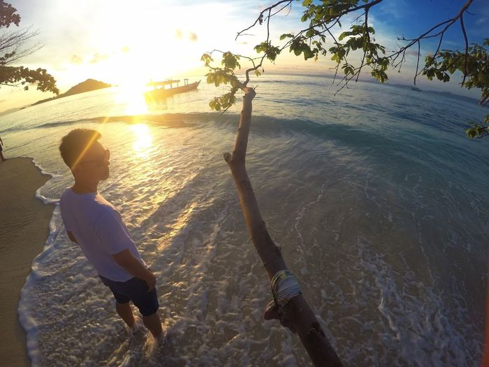 I love beach Sunrice #sunrice #morning #lovely Beach First Eyeem Photo