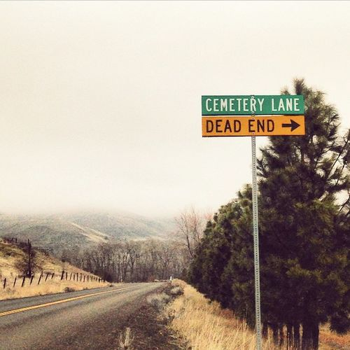 A bit redundant, don't you think? Makinglightofdeath Livelife Lovelife Death Laugh Everyonedies Thedalles Roadtrip Cemetery