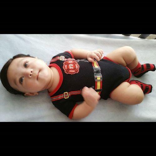 Fire Fighter lol ♡♡Danieljr BlueEyes Firefighter Babyboy Cutiepie Babymodel Handsomebaby