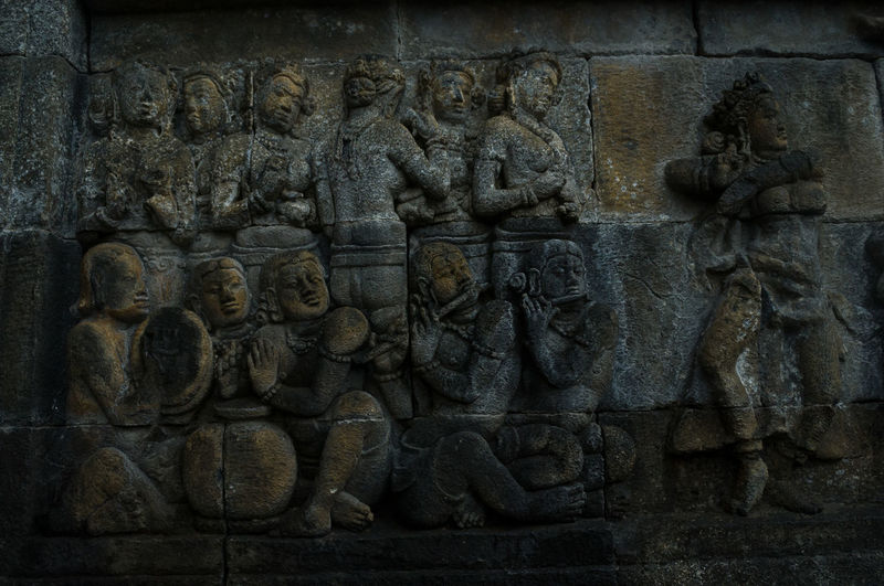 Statue on wall